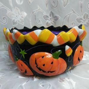 Halloween ceramic candy bowl